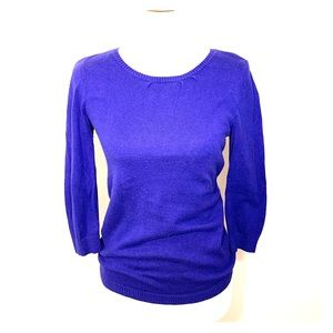Dark Purple Banana Republic Scoop neck 3/4 sweater